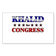 KHALID for congress Rectangle Decal