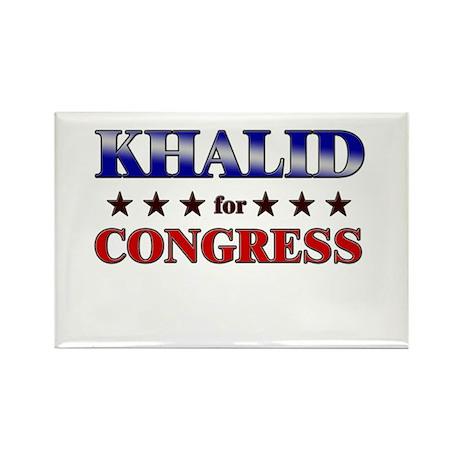 KHALID for congress Rectangle Magnet
