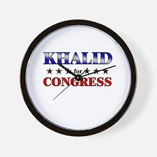 KHALID for congress Wall Clock