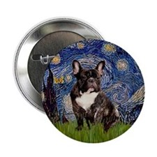 Starry Night French Bulldog 7 Button