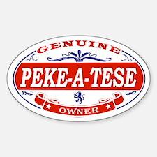 PEKE-A-TESE Oval Decal