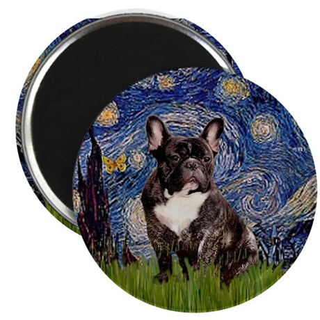 Starry Night French Bulldog 7 Magnet