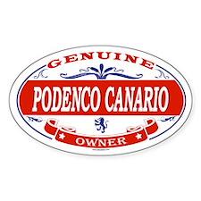PODENCO CANARIO Oval Decal