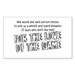Love the Game Rectangle Sticker