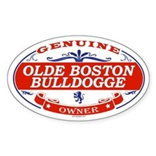 OLDE BOSTON BULLDOGGE Oval Decal