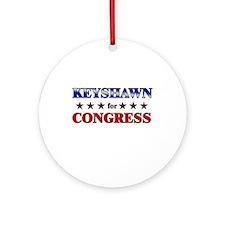 KEYSHAWN for congress Ornament (Round)