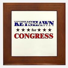 KEYSHAWN for congress Framed Tile