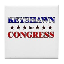 KEYSHAWN for congress Tile Coaster