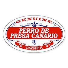 PERRO DE PRESA CANARIO Oval Decal