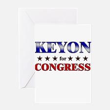 KEYON for congress Greeting Card