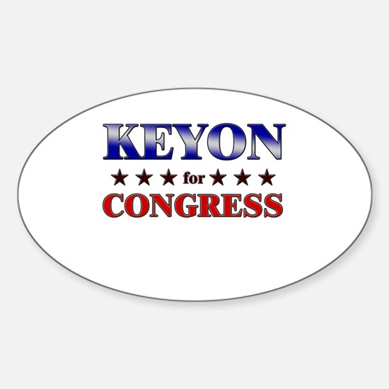 KEYON for congress Oval Decal