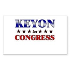 KEYON for congress Rectangle Decal