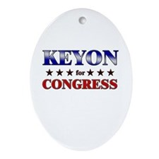 KEYON for congress Oval Ornament
