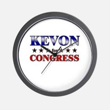 KEVON for congress Wall Clock