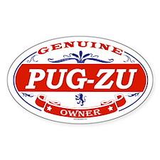 PUG-ZU Oval Decal