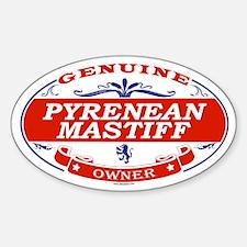 PYRENEAN MASTIFF Oval Decal