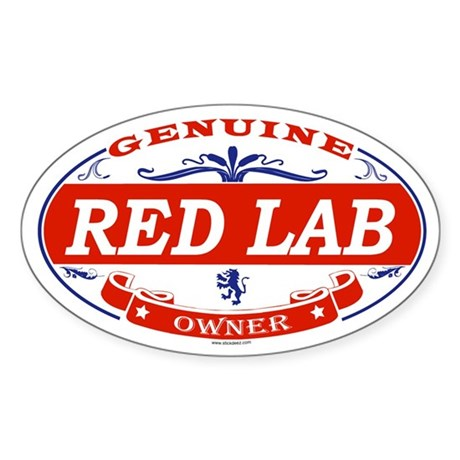 RED LAB Oval Sticker