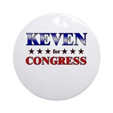 KEVEN for congress Ornament (Round)