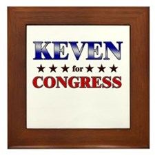 KEVEN for congress Framed Tile
