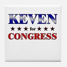 KEVEN for congress Tile Coaster