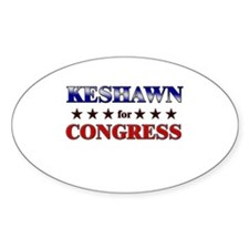 KESHAWN for congress Oval Decal