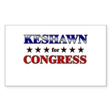KESHAWN for congress Rectangle Decal