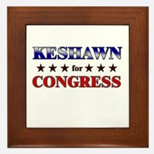 KESHAWN for congress Framed Tile