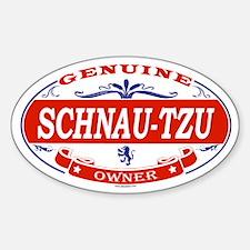 SCHNAU-TZU Oval Decal