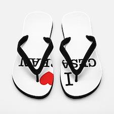 I Love CESAREAN Flip Flops