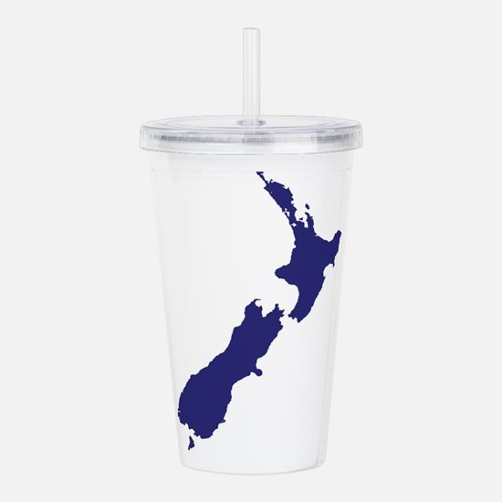 New Zealand Silhouette Acrylic Double-wall Tumbler