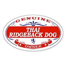 THAI RIDGEBACK DOG Oval Decal