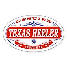 TEXAS HEELER Oval Decal