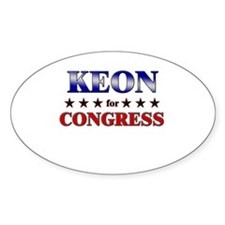 KEON for congress Oval Decal