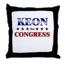 KEON for congress Throw Pillow