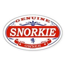 SNORKIE Oval Decal