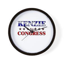 KENZIE for congress Wall Clock