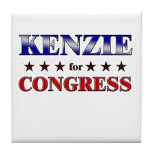 KENZIE for congress Tile Coaster