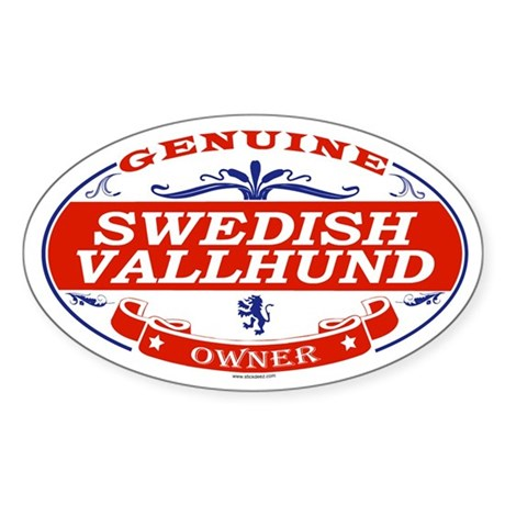 SWEDISH VALLHUND Oval Sticker
