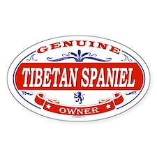 TIBETAN SPANIEL Oval Decal