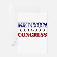 KENYON for congress Greeting Card