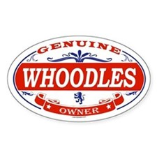 WHOODLES Oval Decal