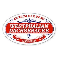 WESTPHALIAN DACHSBRACKE Oval Decal