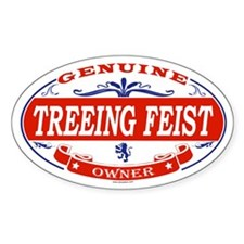TREEING FEIST Oval Decal