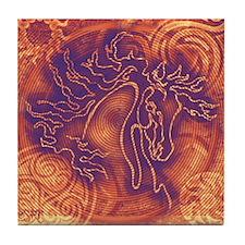 """""""Abundante"""" Tile Coaster ~ Fiery Sunset"""