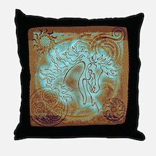 """""""Abundate"""" Throw Pillow ~ Patina Copper (cu)"""