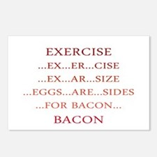 Exercise ... Bacon Postcards (Package of 8)