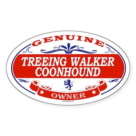 TREEING WALKER COONHOUND Oval Sticker