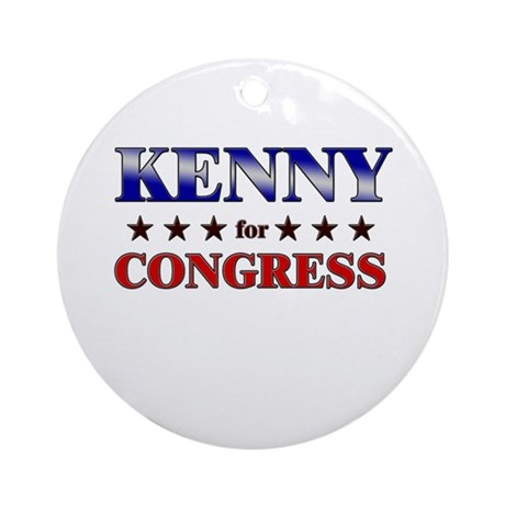 KENNY for congress Ornament (Round)