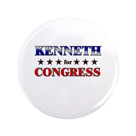 "KENNETH for congress 3.5"" Button"