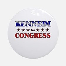 KENNEDI for congress Ornament (Round)